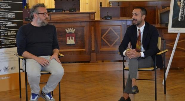 L'assessore Ruben Cittadini e il direttore artistico del Pif Spaccarotella