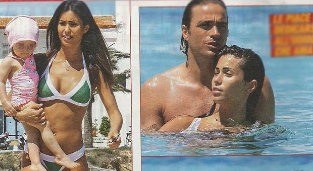 Federica Nargi, Alessandro Matri e la figlia Sofia a Formentera