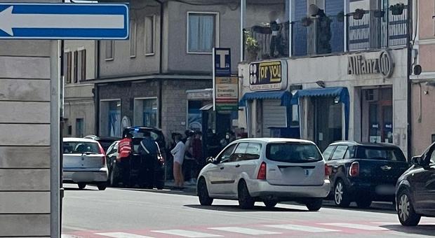 I rilievi dell'incidente da parte dei carabinieri a Marina di Montemarciano