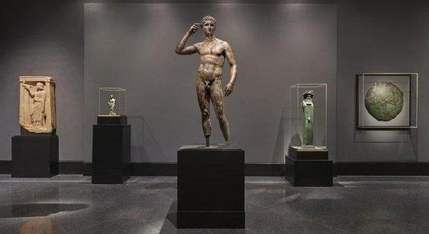 Il Lisippo esposto al Getty Museum di Malibù