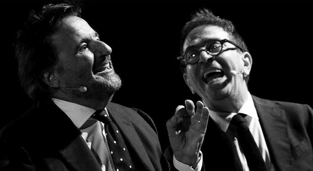 Christian De Sica con Pino Strabiolinello show Una serata tra amici