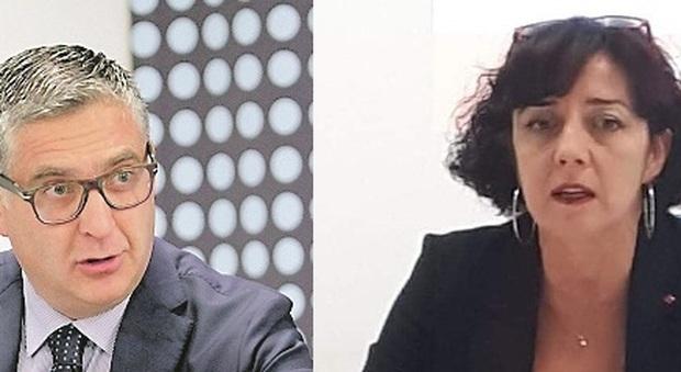 Claudio Schiavoni, presidente di Confindustria, e Simona Barbaresi, segretario Cgil