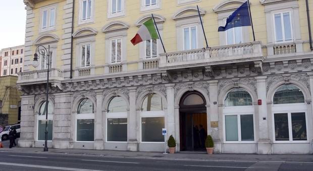 La sede della Corte dei Conti a Trieste