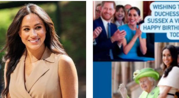Meghan Markle compie 40 anni e arrivano gli auguri (risicati) di Elisabetta, William e Kate. Ma lei non festeggerà
