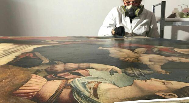 Il restauro dell'opera effettuato da Francesca Ascenzi