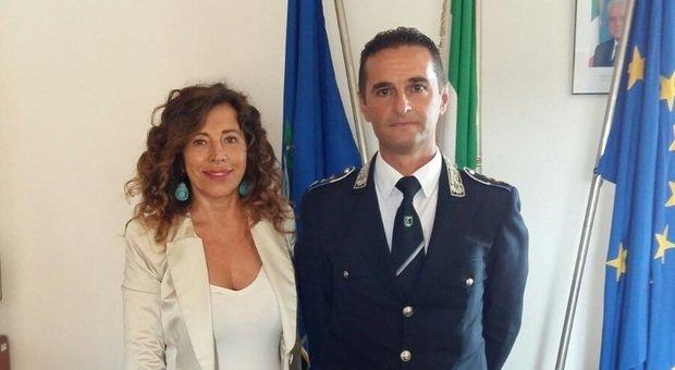 Il sindaco Stefania Signorini con il comandante Alberto Brunetti