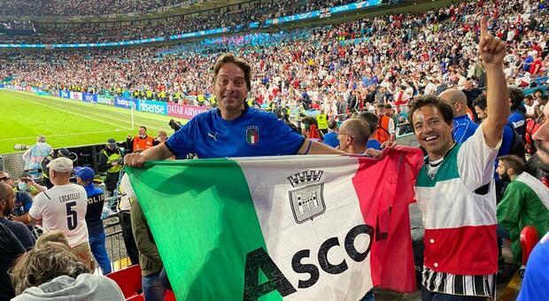 I due fratelli di Ascoli a Wembley in occasione della finale del Campionato europeo di calcio
