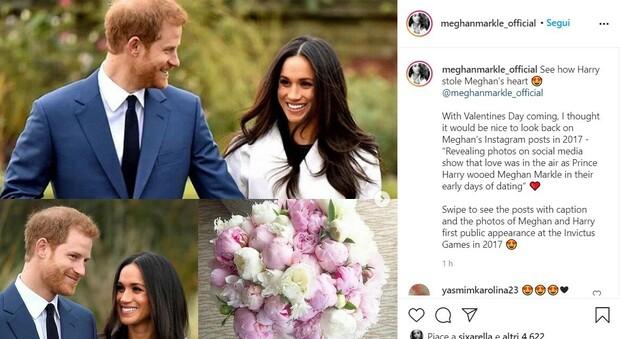 Meghan Markle aspetta San Valentino scorrendo i vecchi post: «Ecco come Harry mi ha rubato il cuore»