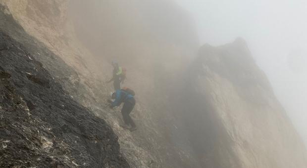 Il Soccorso Alpino di Cortina il salita sulla Tofana