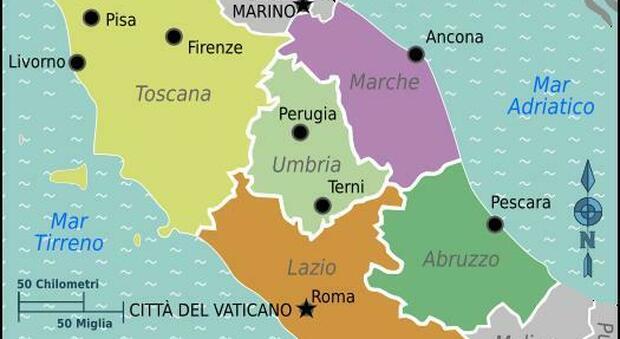 Collegamenti e sviluppo. Marche, Lazio, Toscana, Umbria e Abruzzo: nasce il fronte anti isolamento. Acquaroli: «Priorità alle infrastrutture»
