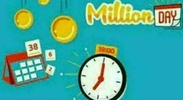 Million Day, i cinque numeri vincenti di oggi venerdì 27 agosto 2021