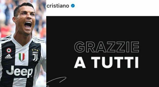 Cristiano Ronaldo, il messaggio di addio alla Juventus è pieno di strafalcioni: da «grazzie» a «tiffosi»
