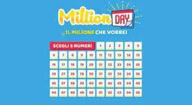 Million Day, estrazione dei numeri vincenti di oggi 5 maggio 2021