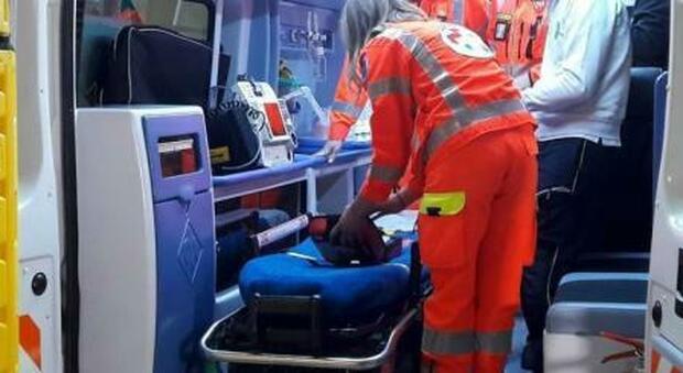 Ambulanza in azione, foto d'archivio