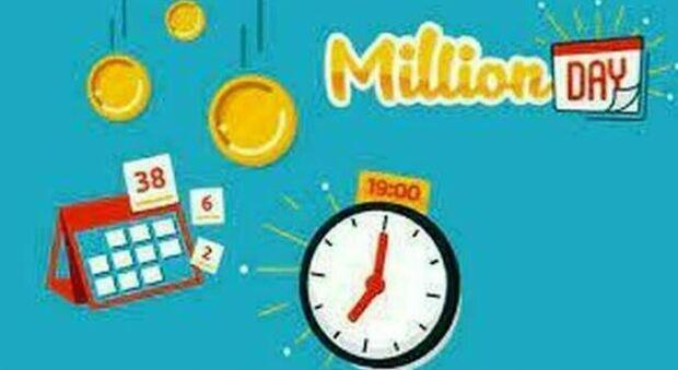 Million Day, l'estrazione dei cinque numeri vincenti di oggi lunedì 16 agosto 2021