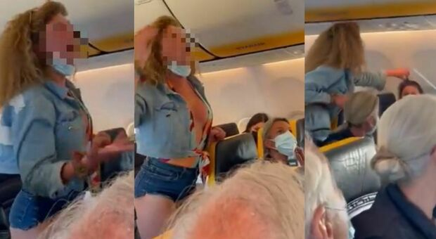 Insulti, calci e sputi in areo: passeggera litiga sul volo da Ibiza e il video diventa virale