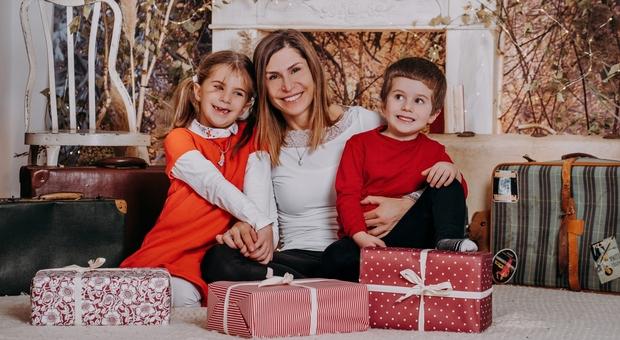 Rebecca Albarani con i due figli