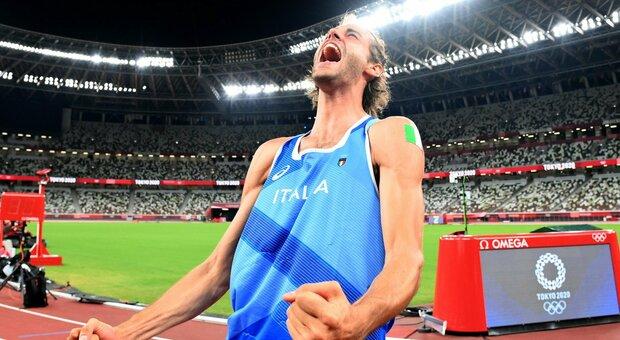 Gianmarco Tamberi a Tokyo durante le Olimpiadi