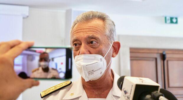 L'ammiraglio Giovanni Pettorino ieri ad Ancona