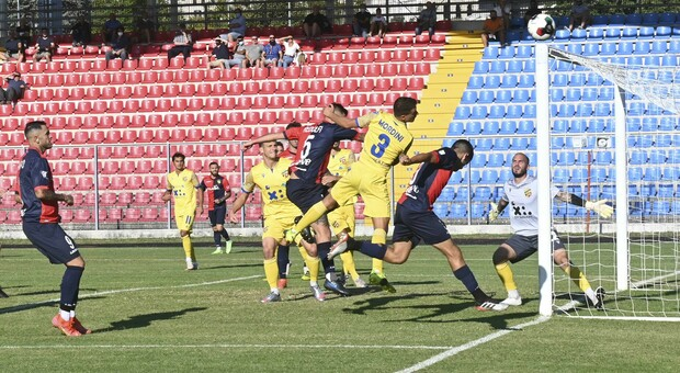 Un'occasione da rete durante Gubbio-Fermana terminata 1-0