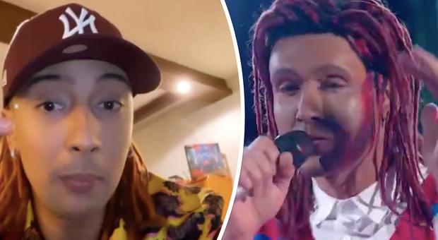 Ghali contro Tale e Quale Show dopo l'imitazione di Sergio Muniz: «Bastava l'autotune e un bel look, con il BlackFace brutta figura»