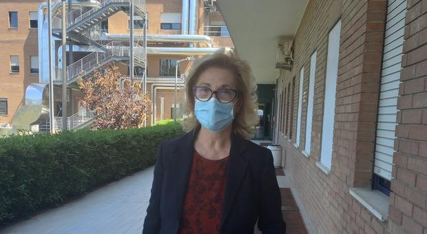 Nadia Storti, direttrice dell'Asur Marche, ieri a Civitanova