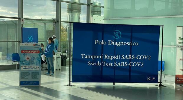 Covid, all'Aeroporto delle Marche via allo screening con tamponi rapidi ad antigene