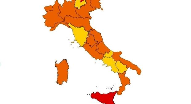 Nuove zone, da oggi l'Italia cambia colori: 14 Regioni arancioni, due rosse. Cosa si può fare?