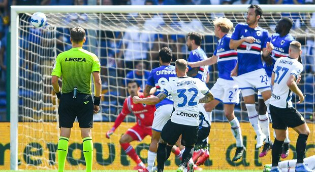 L'Inter rallenta, la Samp rimonta due volte