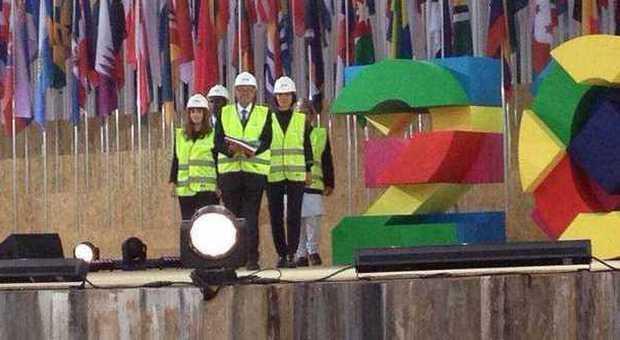 L'Expo vede i marchigiani in primo piano con Olga Moskivina e Giancarlo Basili