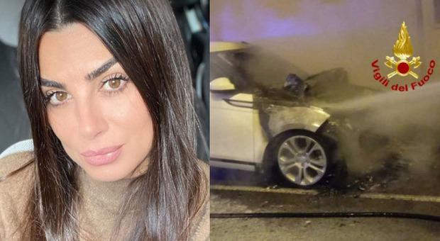 La Land Rover bruciata di Serena Enardu