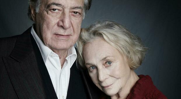Carlo Alighiero con la moglie Elena Cotta, anche lei attrice e doppiatrice
