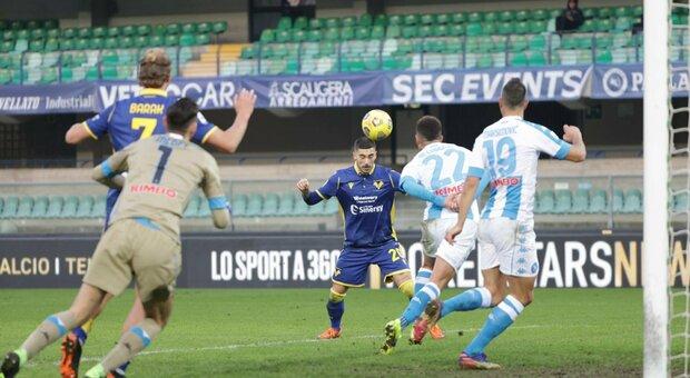 Napoli, crollo da schiaffi a Verona: 3-1, azzurri fuori dalla Champions