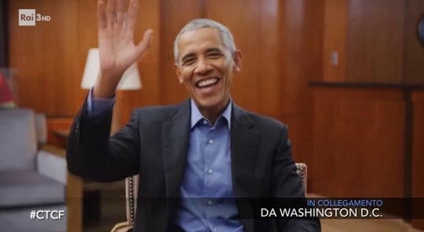 Barack Obama a Che tempo che fa da Fazio: «Ciao!»