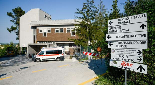La palazzina delle Malattie infettive all'ospedale di Macerata