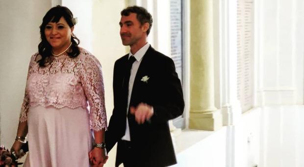 L'ex assessore Caterina Del Bianco e il geometra Giacomo Caldari