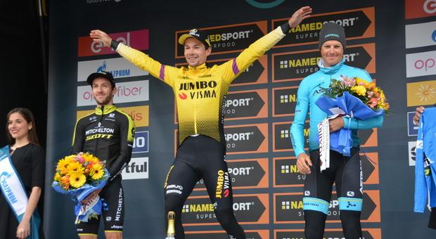 Il podio di San Benedetto l anno scorso della Tirreno Adriatico