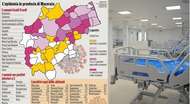 Macerata, Covid free o con pochissimi casi: più della metà dei Comuni ha l'antivirus