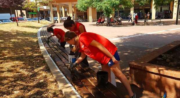 Piazza Redi, la rinascita passa attraverso la grande applicazione dei giovani volontari