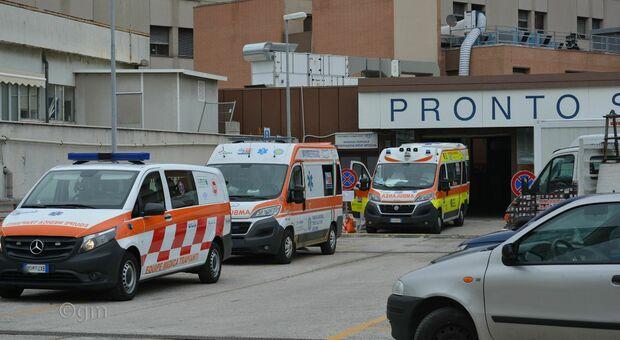 Ambulanze al Pronto soccorso di Torrette