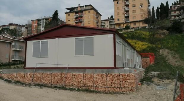 Il prefabbricato dono del Bim Adige e Trento donato a Castignano