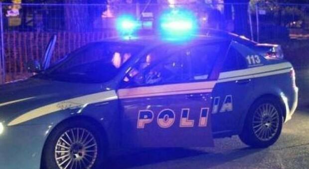 La polizia in servizio