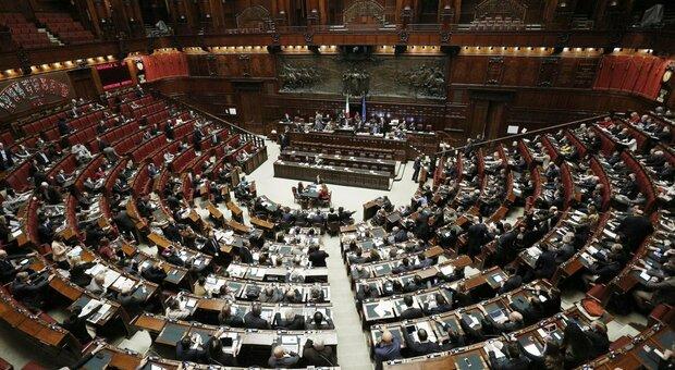 L'aula di Montecitorio sede della Camera dei deputati