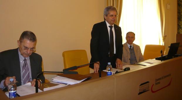Il presidente della Camera di Commercio Graziano Di Battista