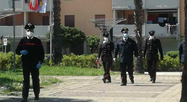 Controlli delle forze dell'ordine a Lido Tre Archi