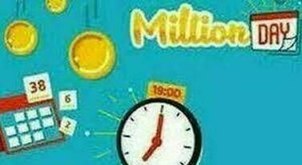 Million Day, l'estrazione dei cinque numeri di oggi giovedì 24 giugno 2021