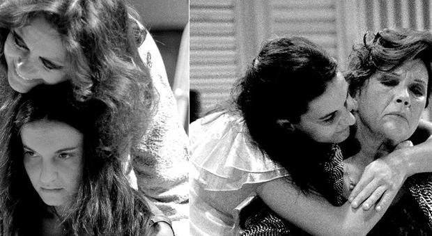 """Valeria Moriconi e Emma Dante nel 1996 in """"La rosa tatuata"""""""