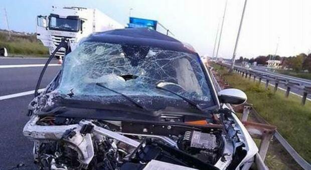 Auto distrutta dopo l'incidente stradale: Ninkovic ricoverato in un ospedale croato