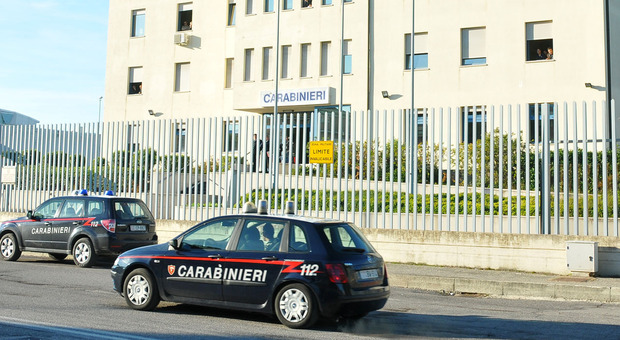 La caserma dei carabinieri di Civitanova