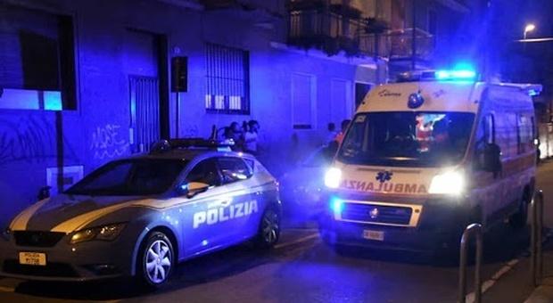 Sono intervenuti volante della polizia di Stato e ambulanza del 118 con i vigili del fuoco